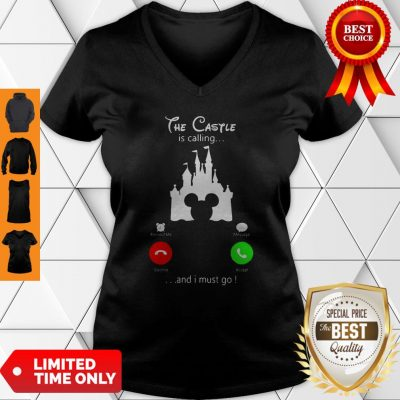 Premium Disney The Castle Is Calling And I Must Go V-neck
