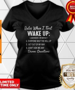 Nice Rules When I First Wake Up Don't Ask Me Any Damn Questions V-neck