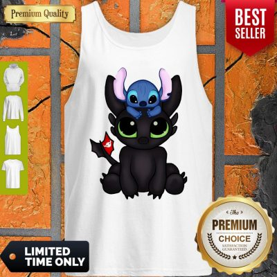 Awesome Baby Toothless Dragon And Stitch Flag Tank Top