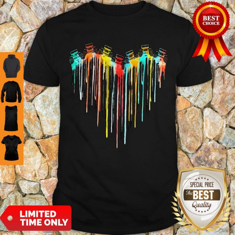 Awesome Colorful Dripping Heart Jeep Shirt