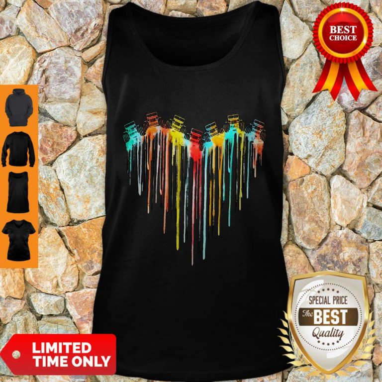 Awesome Colorful Dripping Heart Jeep Tank Top