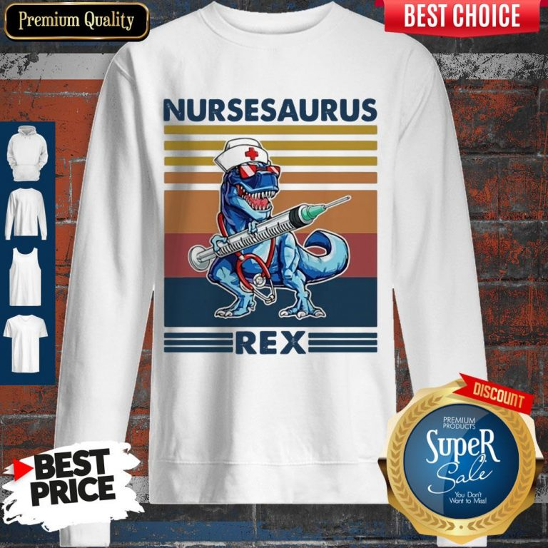 Awesome Dinosaur Nurse Nursesaurus Rex Sweatshirt