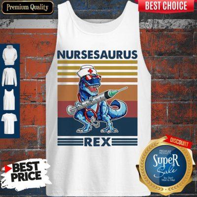 Awesome Dinosaur Nurse Nursesaurus Rex Tank Top