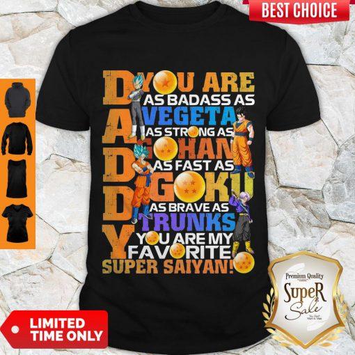 Awesome Dragon Daddy Vegeta Gohan Goku Trunks Super Saiyan Shirt