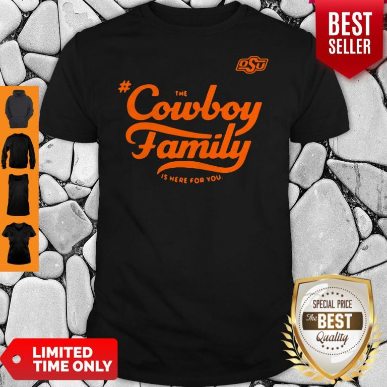 Awesome Osu The Cowboy Family Is Here For You Shirt