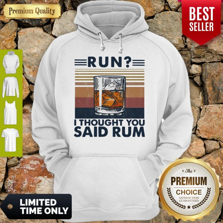 Awesome Run I Thought You Said Rum Wine Vintage Hoodie