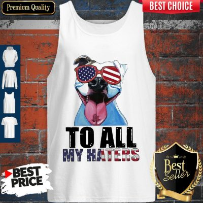 Awesome To My Haters Pitbull American Flag Tank top
