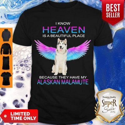 Cute Alaskan Malamute In Heaven Shirt