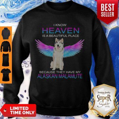 Cute Alaskan Malamute In Heaven Sweatshirt