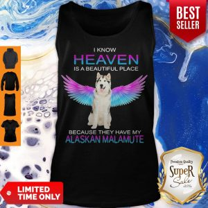 Cute Alaskan Malamute In Heaven Tank Top