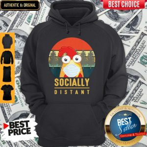 Cute Chicken Mask Socially Distant Covid-19 Hoodie