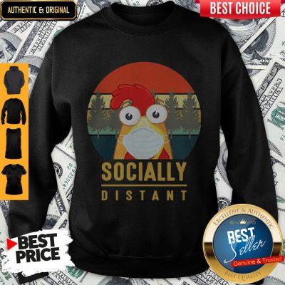 Cute Chicken Mask Socially Distant Covid-19 Sweatshirt