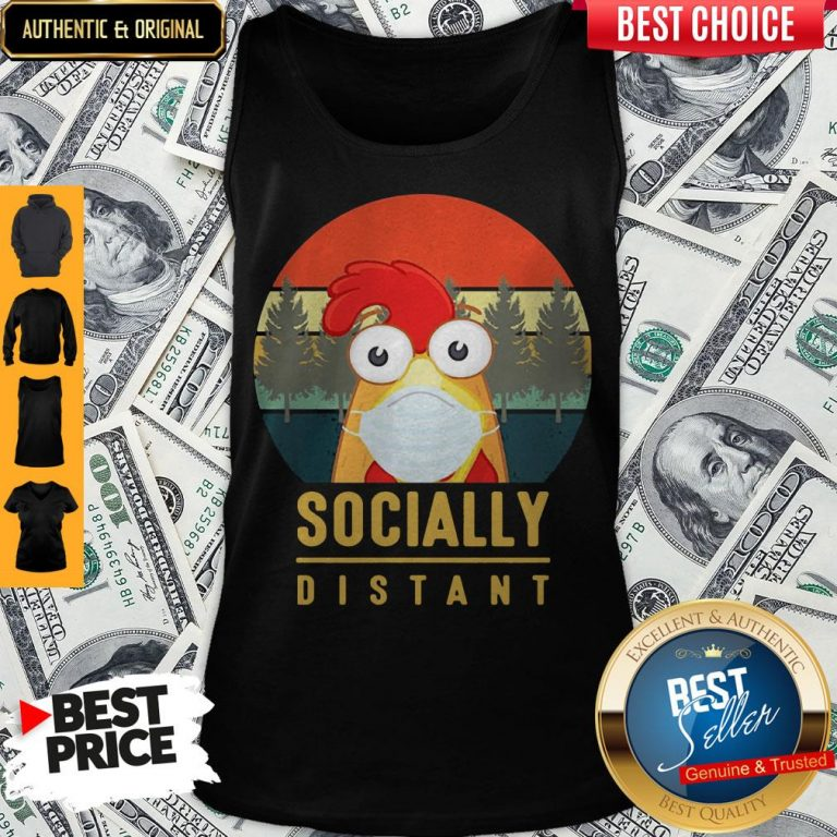 Cute Chicken Mask Socially Distant Covid-19 Tank Top