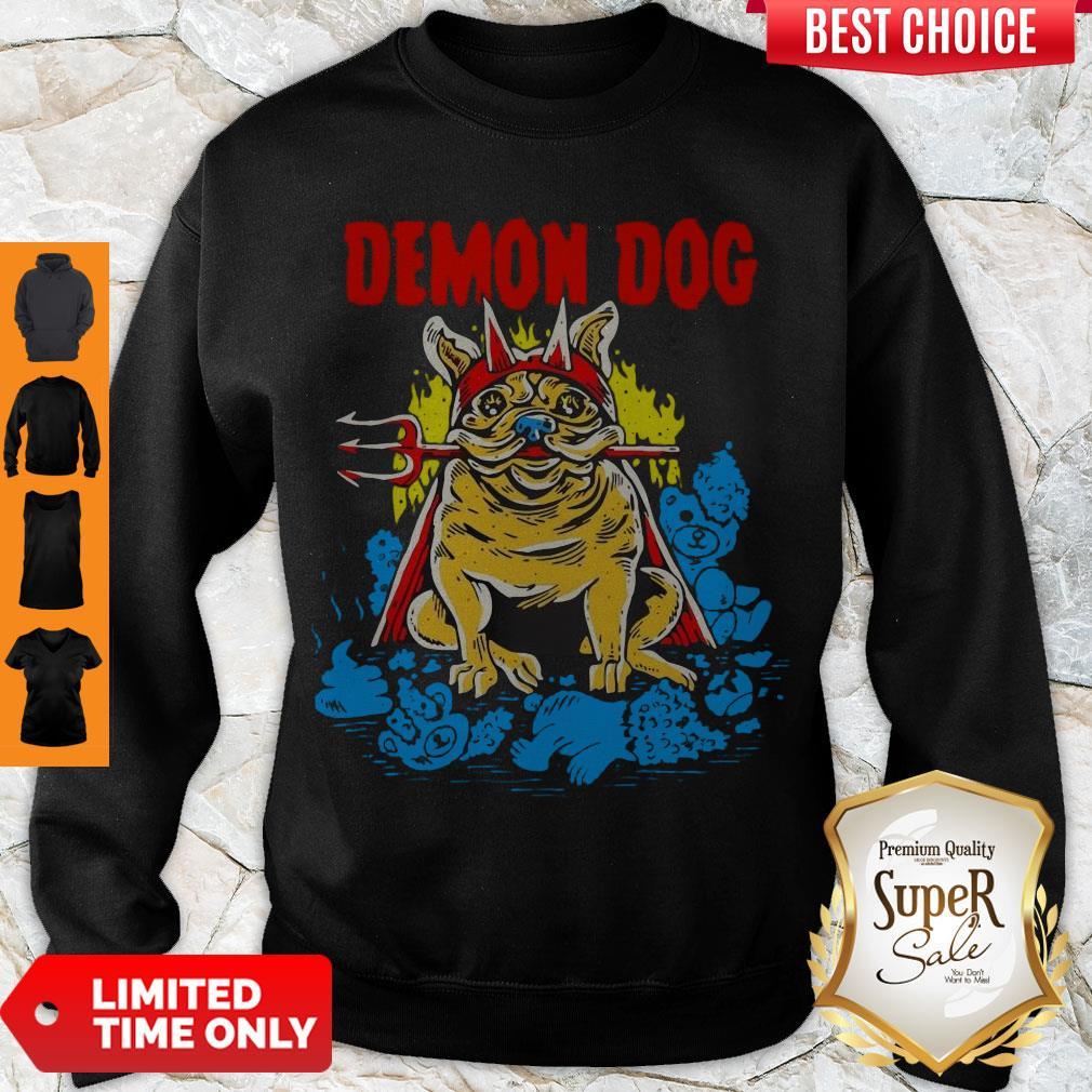 Cute Demon Dog Hoodie