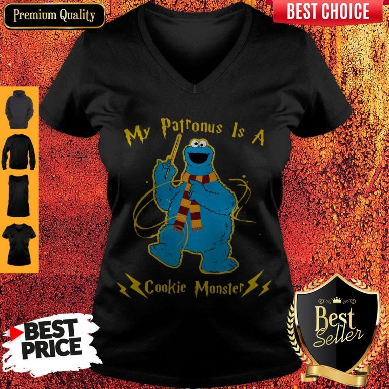 Cute My Patronus Is A Cookie Monster V-neck