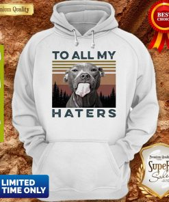 Cute Pit Bull To All My Haters Vintage Hoodie