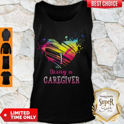 Good Heart I Being A Caregiver Tank Top