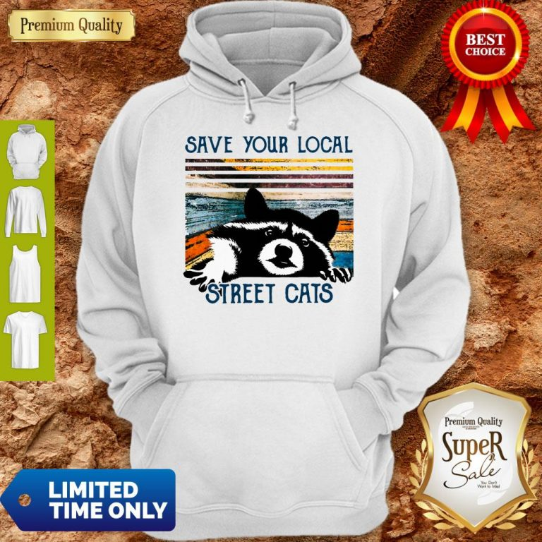 Premium Save Your Local Street Cats Vintage Hoodie