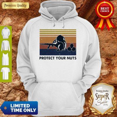 Premium Squirrel Protect Your Nuts Vintage Hoodie