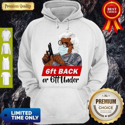 Premium 6ft Back Or 6ft Under Mask Gun Hoodie