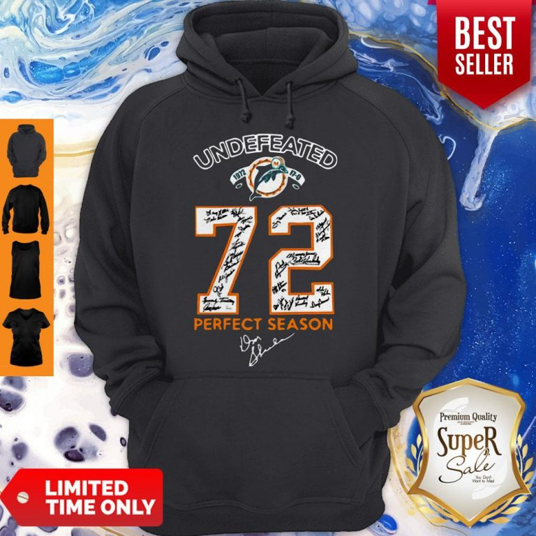 Nice Miami Dolphins Undefeated 1972 72 Perfect Season Signatures Hoodie