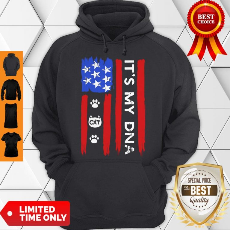 Hot Independence Day Its My DNA Cat Paw Hoodie