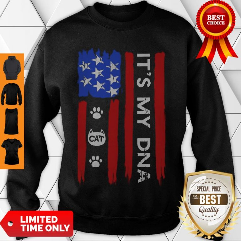 Hot Independence Day Its My DNA Cat Paw Sweatshirt