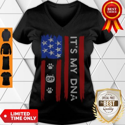 Hot Independence Day Its My DNA Cat Paw V-neck