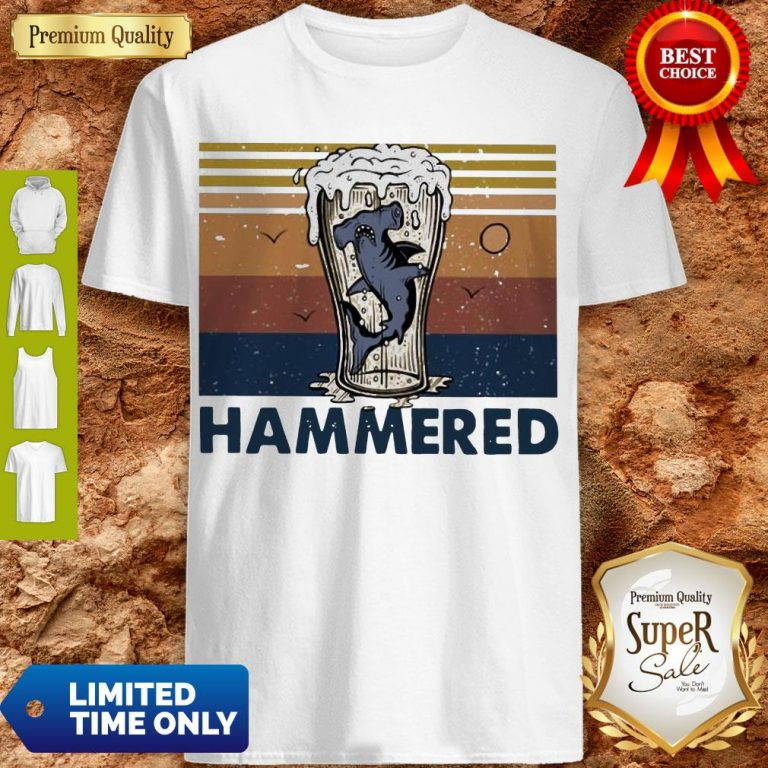 Nice Beer And Hammerhead Sharks Vintage Shirt