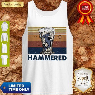 Nice Beer And Hammerhead Sharks Vintage Tank Top