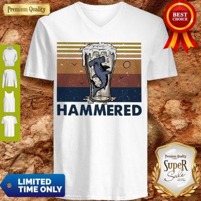 Nice Beer And Hammerhead Sharks Vintage V-neck