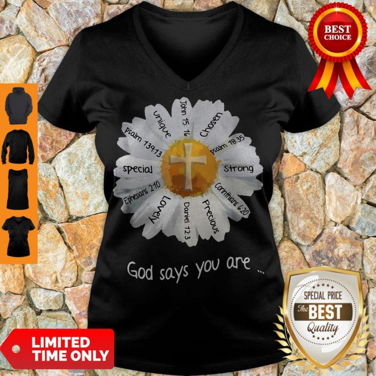 Nice God Says You Are Special Lovely Funny V-neck