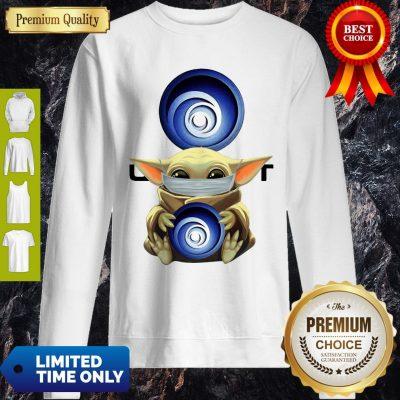 Nice Star Wars Baby Yoda Hug Ubisoft Mask Covid 19 Sweatshirt