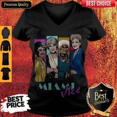 Nice The Golden Girls Miami Vice V-neck