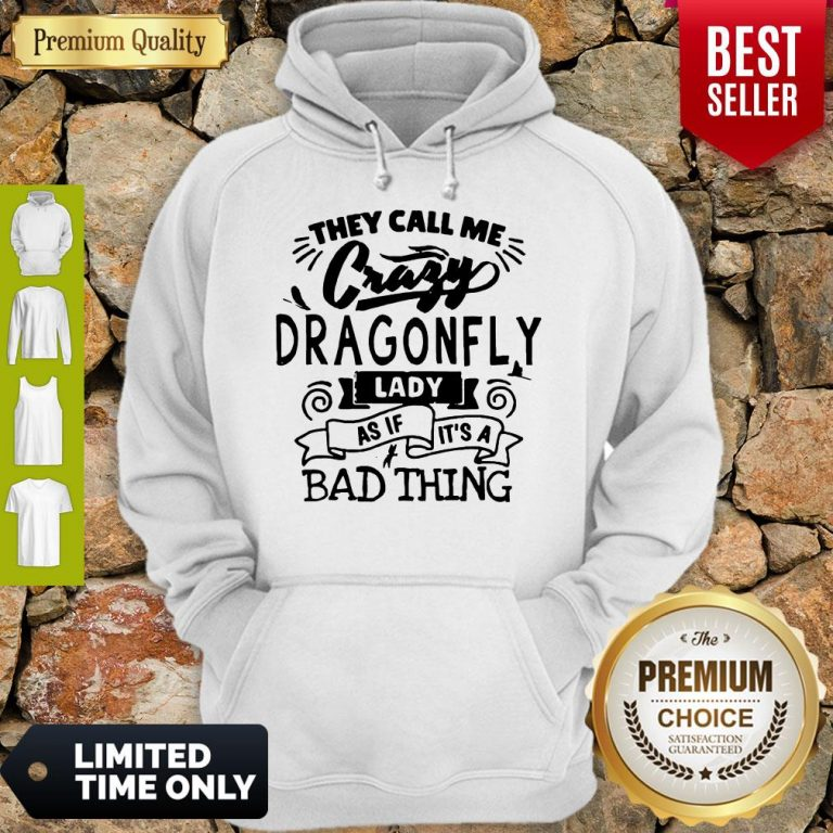 Nice They Call Me Crazy Dragonfly Lady As If It's A Bad Thing Hoodie