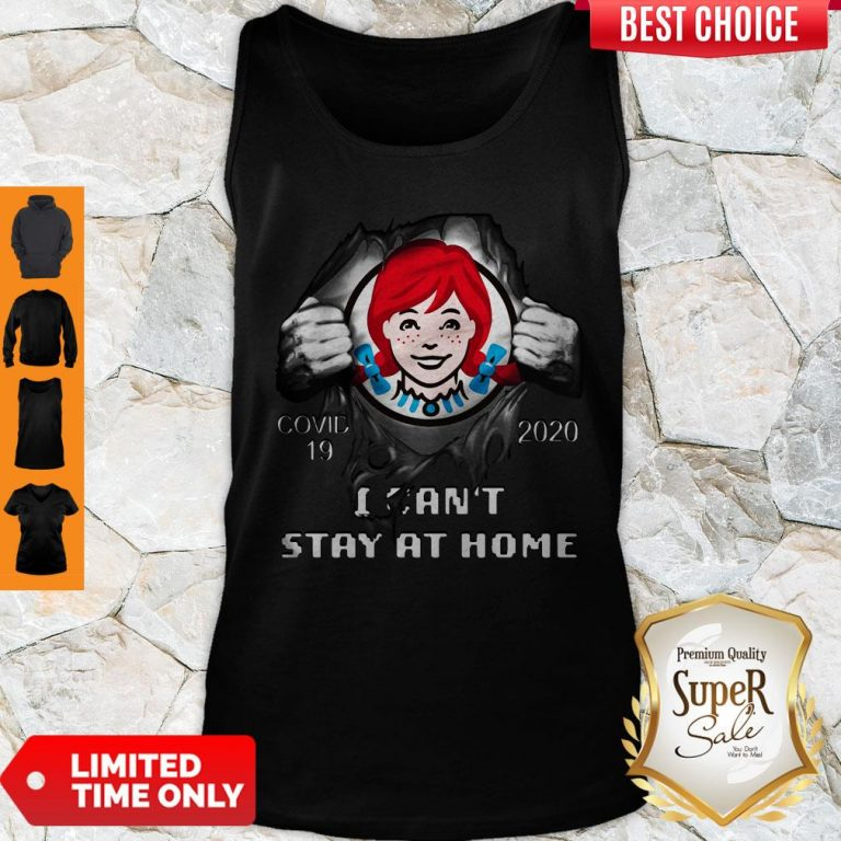Official Wendy's Inside Me Covid 19 2020 I Can't Stay At Home Tank Top