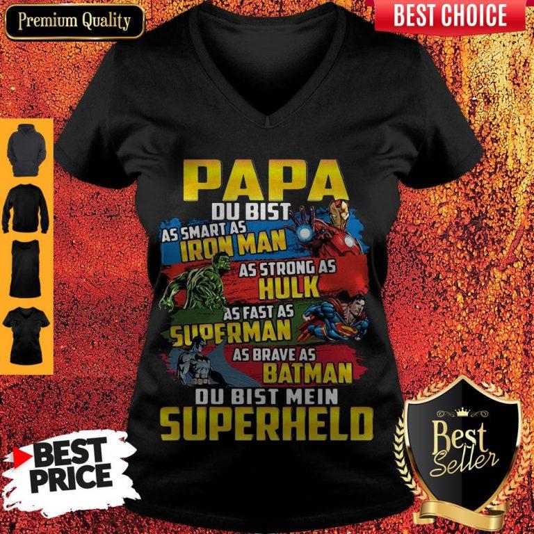 Papa As Smart As Iron Man As Strong As Hulk As Fast As Superman As Brave As Batman Du Bist Mein Superheld Sweatshirt