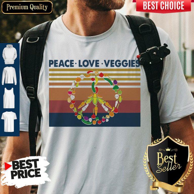 Peace Love Veggies Vintage Shirt