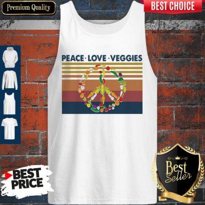 Peace Love Veggies Vintage Tank Top