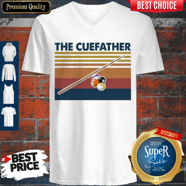Perfect Billiards The Cue Father Vintage V-neck