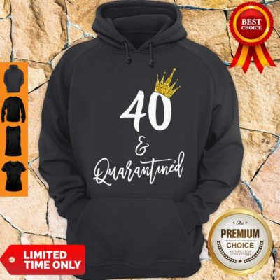 Premium 40 Queen And Quarantined Coronavirus Hoodie - Design By Earstees.com