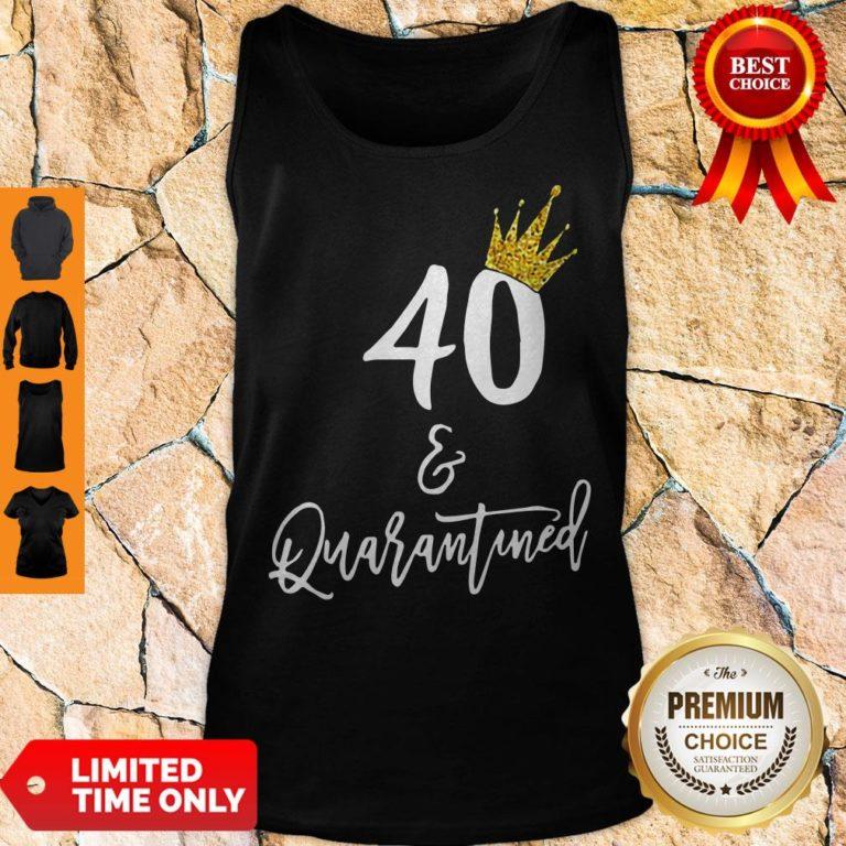 Premium 40 Queen And Quarantined Coronavirus Tank Top - Design By Earstees.com