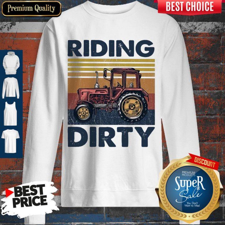 Premium Farm Riding Dirty Vintage Sweatshirt