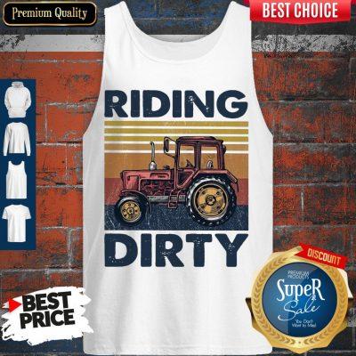 Premium Farm Riding Dirty Vintage Tank Top