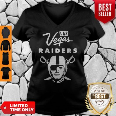 Premium Las Vegas Raiders Football Logo V-neck