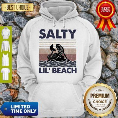 Premium Mermaid Salty Lil' Beach Vintage Hoodie