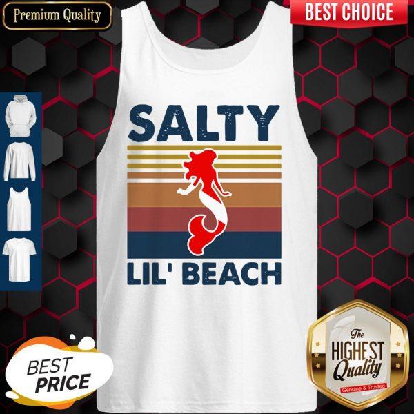 Premium Mermaid Salty Lit' Beach Vintage Tank Top