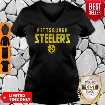 Premium Pittsburgh Steelers Football Logo V-neck