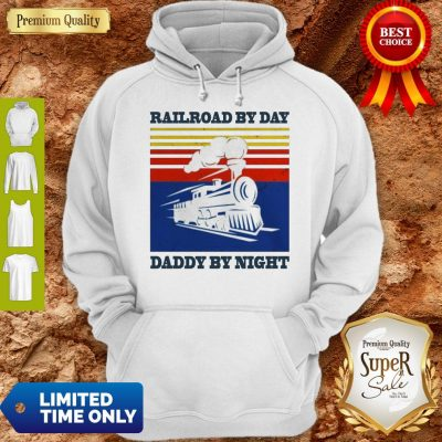 Premium Railroad By Day Daddy By Night Sunset Black Vintage Hoodie