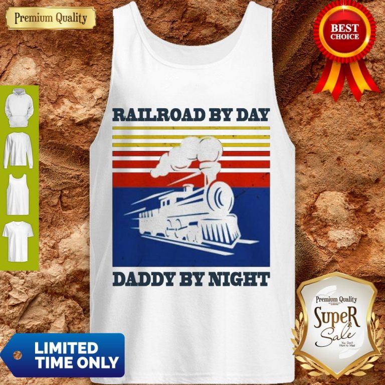 Premium Railroad By Day Daddy By Night Sunset Black Vintage Tank Top